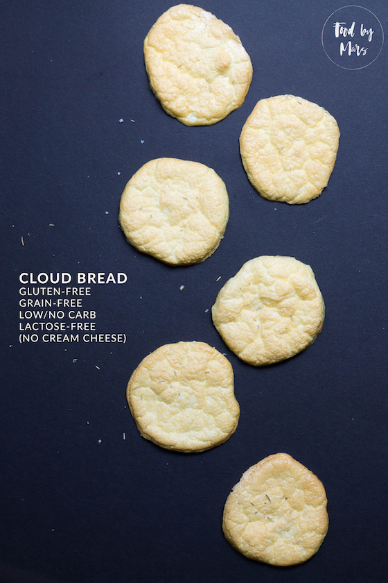 Easy Cloud Bread without cream cheese (lactose-free, gluten-free, grain-free, low-carb)