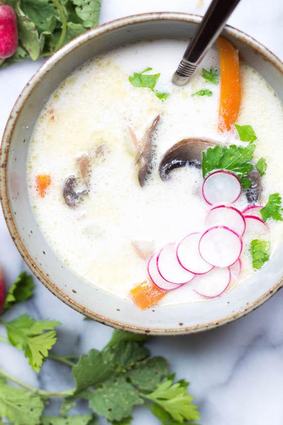 Summer Coconut Vegetable Soup (Paleo, Vegan, Gluten-free) via Food by Mars