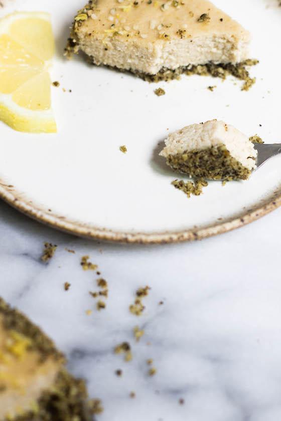 Lemon & Hemp Vegan Cheesecake (grain-free, gluten-free, dairy-free, paleo) via Food by Mars