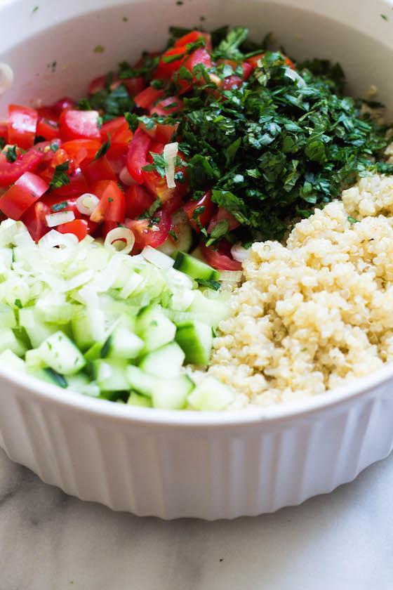 Quinoa Tabbouleh (gluten-free, vegan) via Food by Mars