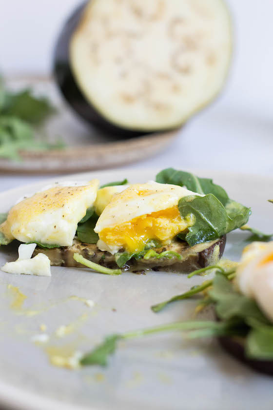 Eggplant Benedict with easy Hollandaise (Gluten-free, Grain-free, Paleo) via Food by Mars