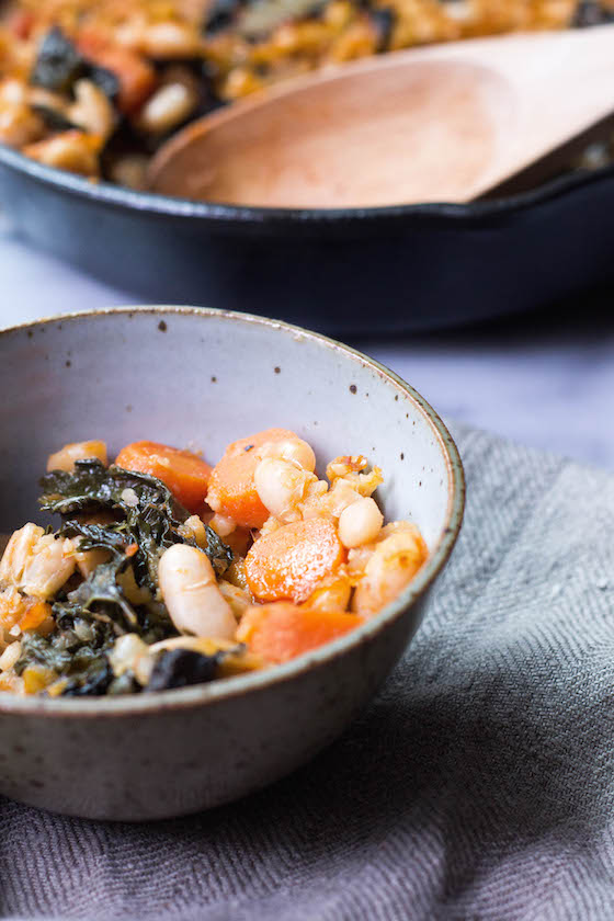 White Bean & Kale Bake (Vegan & Gluten-free) via Food by Mars