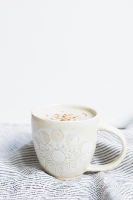 Chaga & Cordyceps Latte Recipes via Food by Mars (caffeine-free, dairy-free)