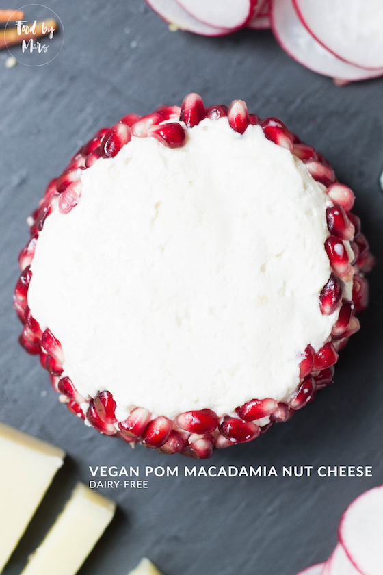Vegan Pom Macadamia Nut Cheese (Plant-based party platters!) Dairy-free via Food by Mars