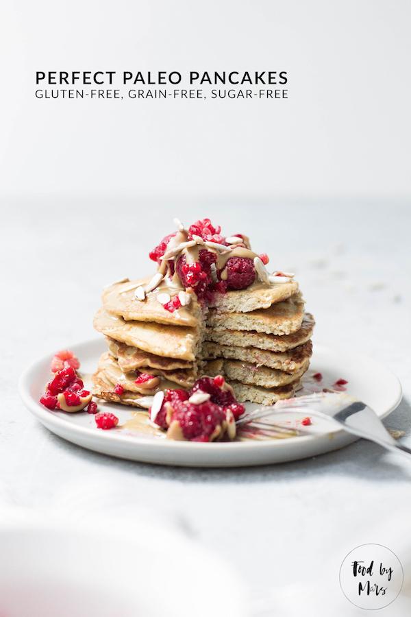 Perfect Paleo Pancakes (fluffy, gluten-free, grain-free, sugar-free) via Food by Mars