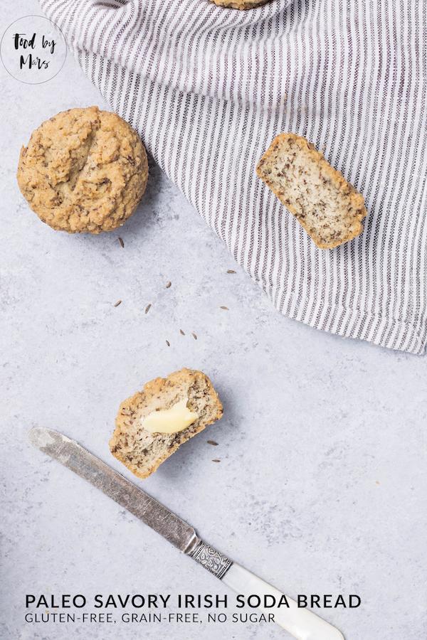 Savory Irish Paleo Soda Bread Biscuits (paleo) via Food by Mars