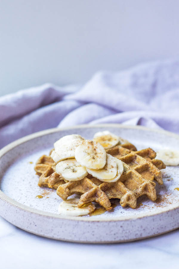 Paleo Tigernut Waffles (AIP-friendly, Gluten-free, Egg-free, Vegan)