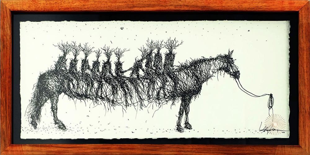 ink on paper  38 x 17 cm