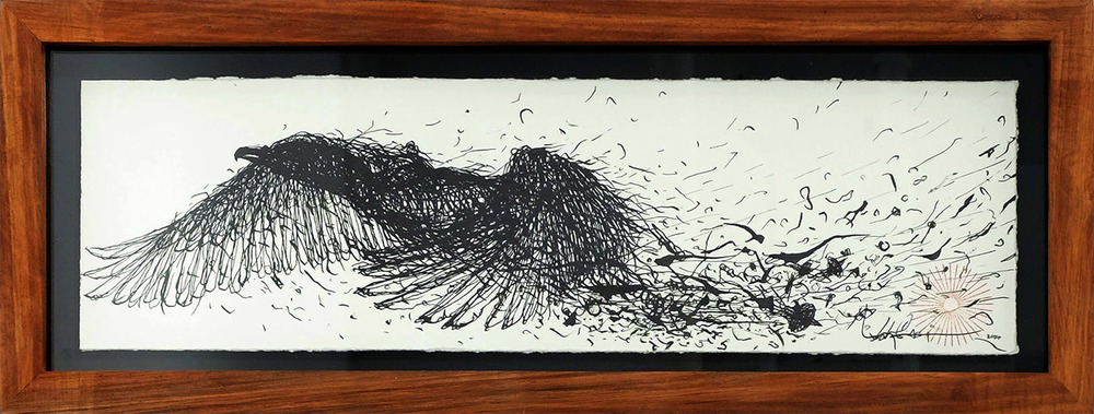 ink on paper  33 x 10 cm