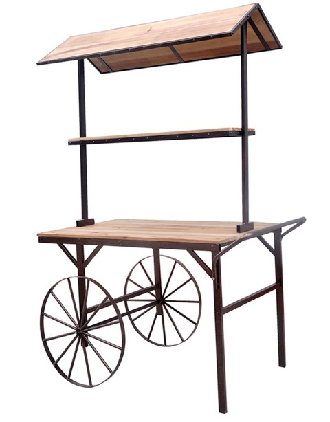 "Market Cart option (48"" x 30""; 81"" tall)"
