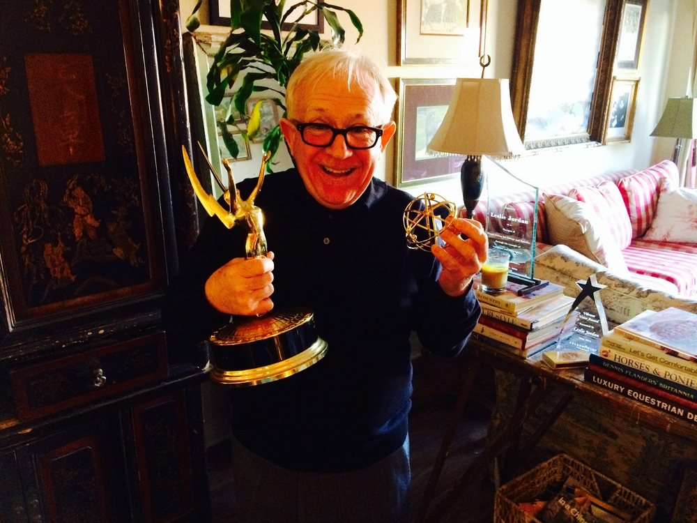 Broken Emmy...still worth smiling about.