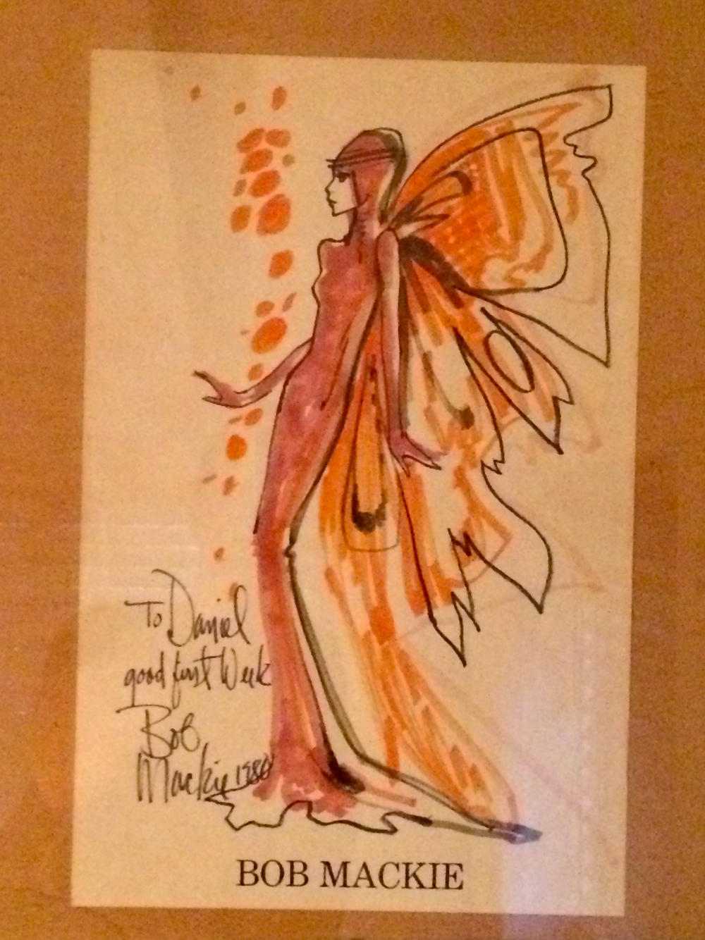 A gift Daniel got from Bob Mackie after his first week of working for him.