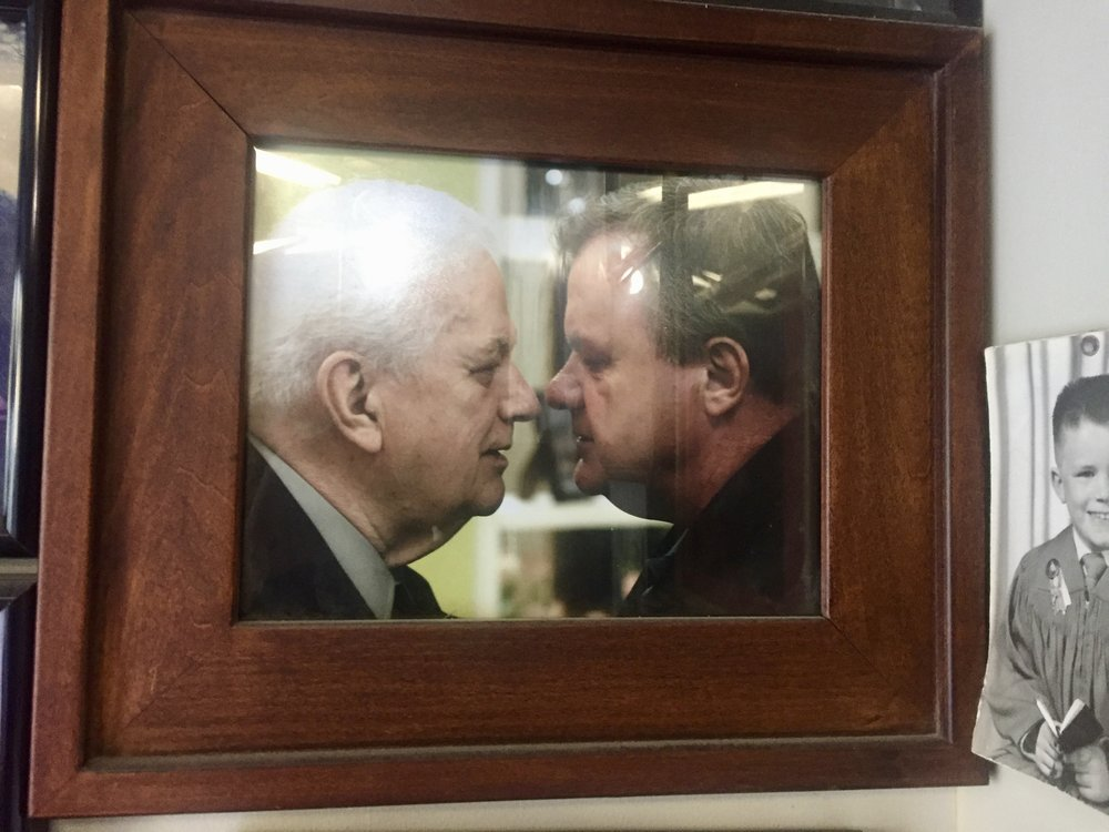 The photo with Charles Durning Jack talks about on the podcast