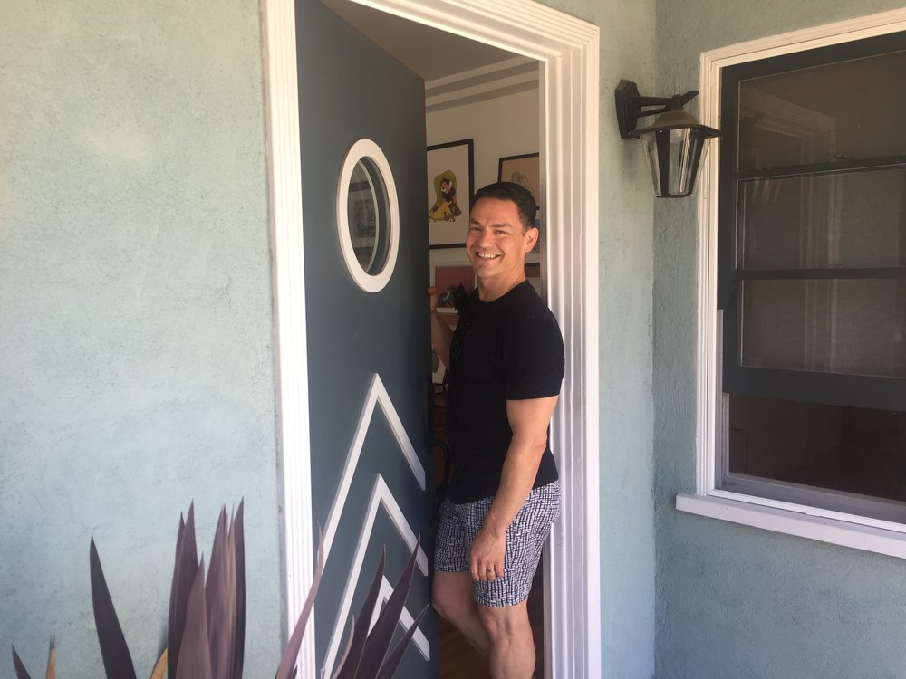 Rick at his super cool front door.