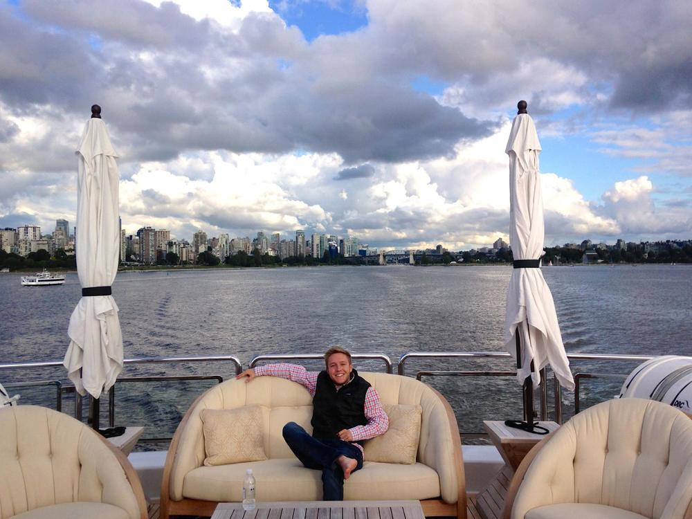 This is not my yacht. But look at that view of Vancouver!