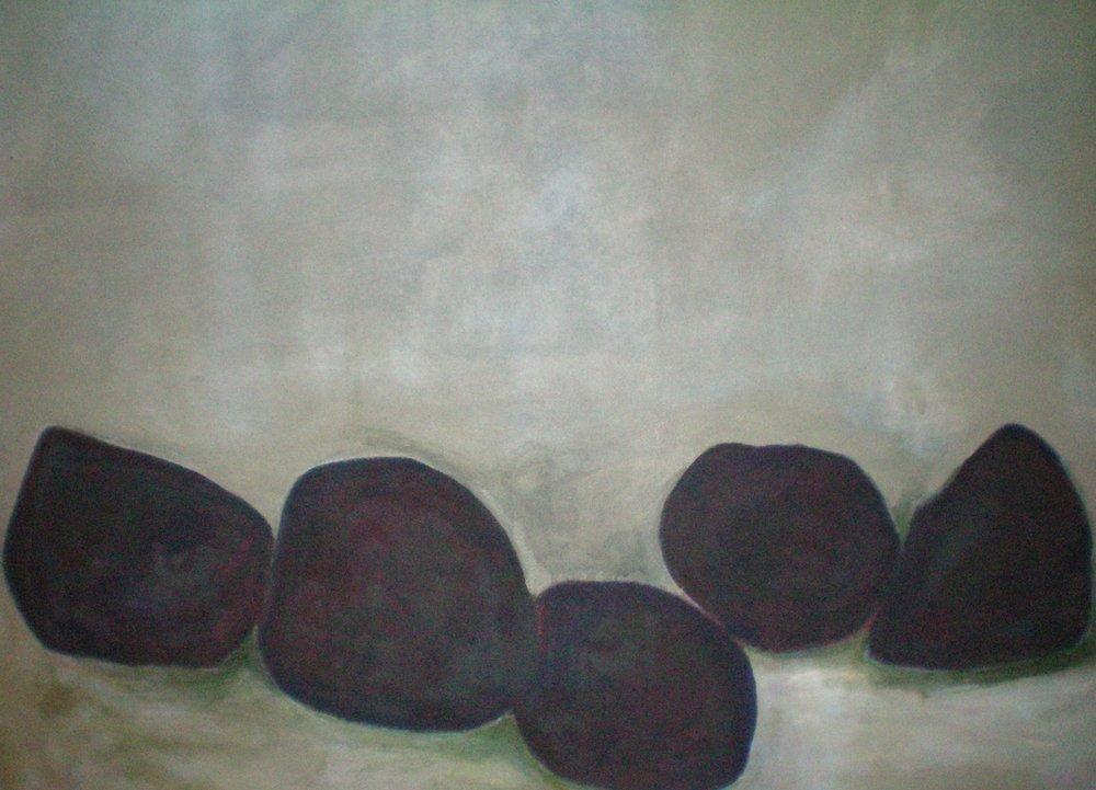"""""""Grounded"""" """"40 x """"40 acrylic on canvas 2015"""