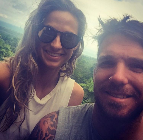 AFL Superstar Dane Swan with girlfriend in our Santa Monicas