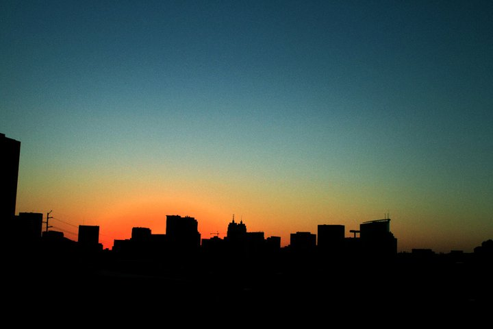 The beautiful sunset from the top of a Houston parking garage (that I miss so much)!
