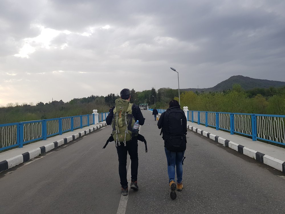 Crossing into Abhkazia.