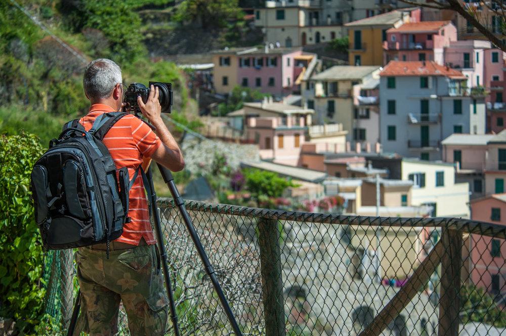 Photographer at Manarola