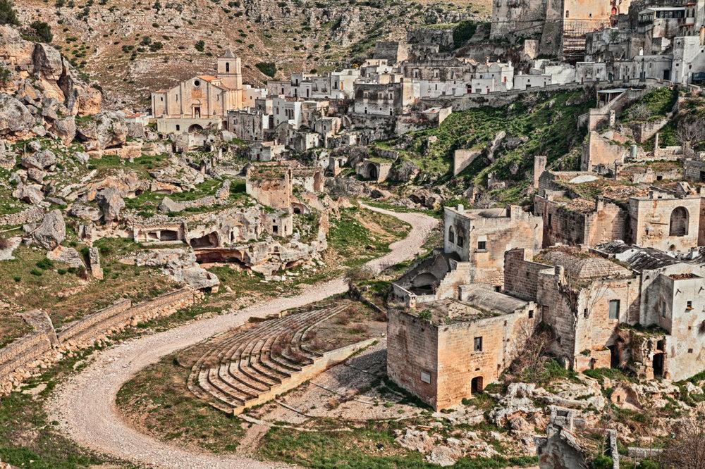 Ginosa, Taranto, Puglia, Italy: landscape of the old town