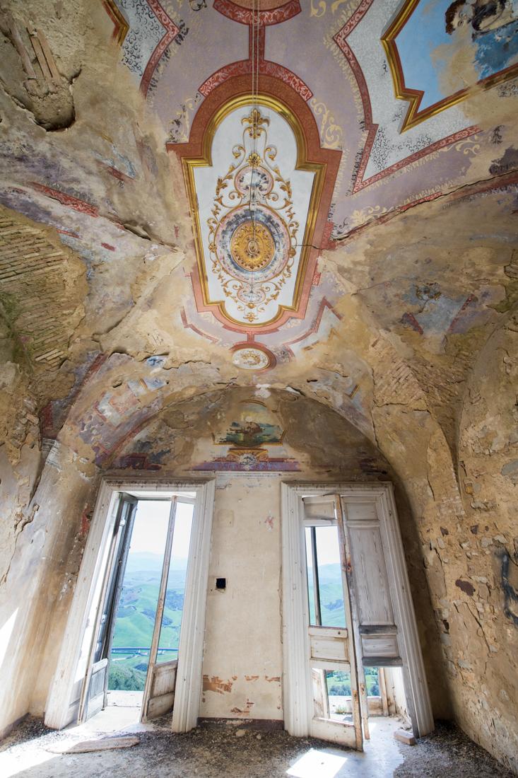 Old inside city Craco in Basilicata