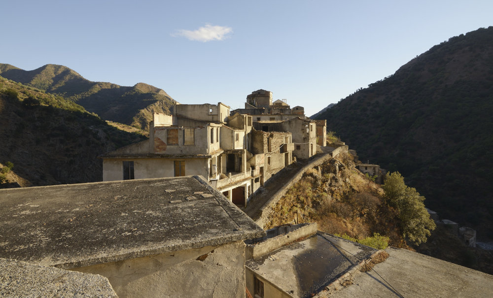 Abandoned village of Roghudi, Aspromonte, Calabria, Italy