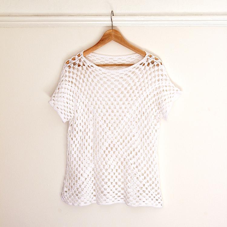 t-shirt au crochet
