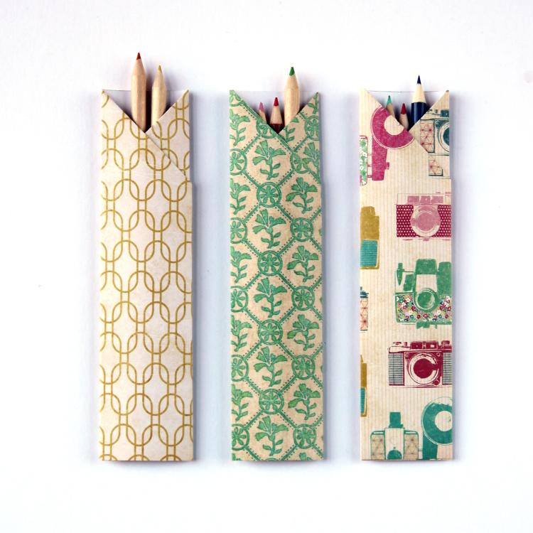 Make It Monday Diy Origami Pencil Holders Gathering Beauty