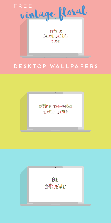 Free Vintage Floral Desktop Wallpaper Downloads Gathering Beauty