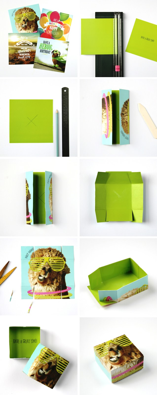 How To Make A Gift Box From An Old Card Gathering Beauty