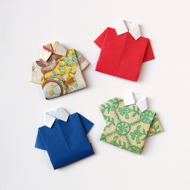 How To Fold An Origami Shirt Gathering Beauty