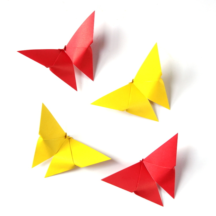How to DIY Easy Origami Butterfly | 750x750