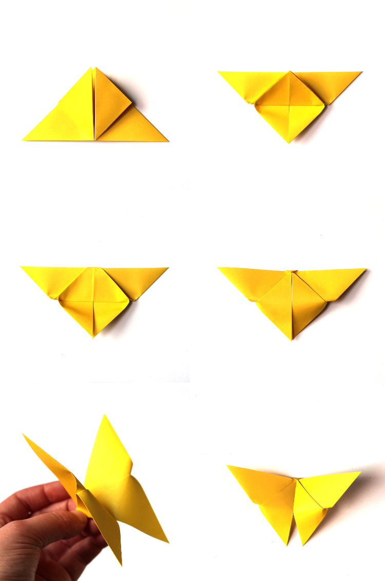 HOW TO MAKE EASY ORIGAMI BUTTERFLIES