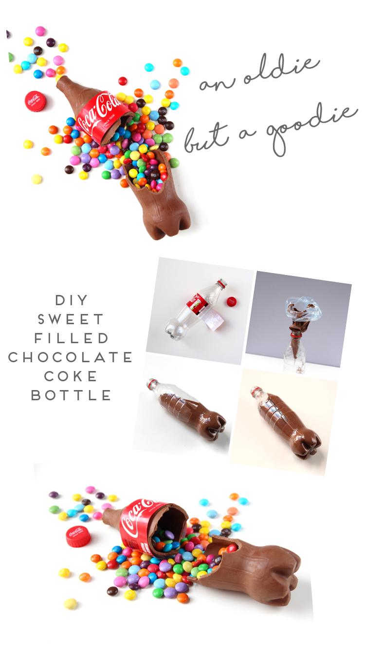 AN OLDIE BUT A GOODIE - DIY SWEET FILLED CHOCOLATE COKE BOTTLE.