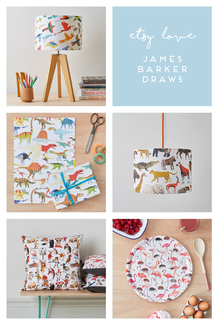 ETSY LOVE - JAMES BARKET DRAWS.