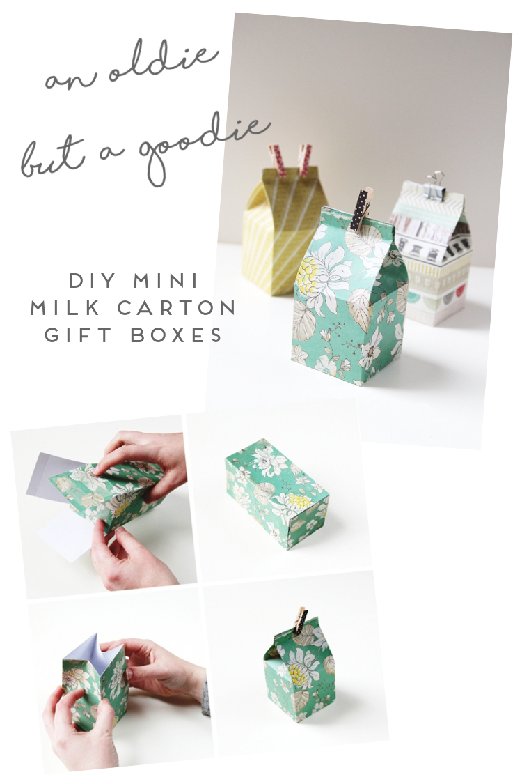 AN OLDIE BUT A GOODIE - DIY MINI MILK CARTON GIFT BOXES.