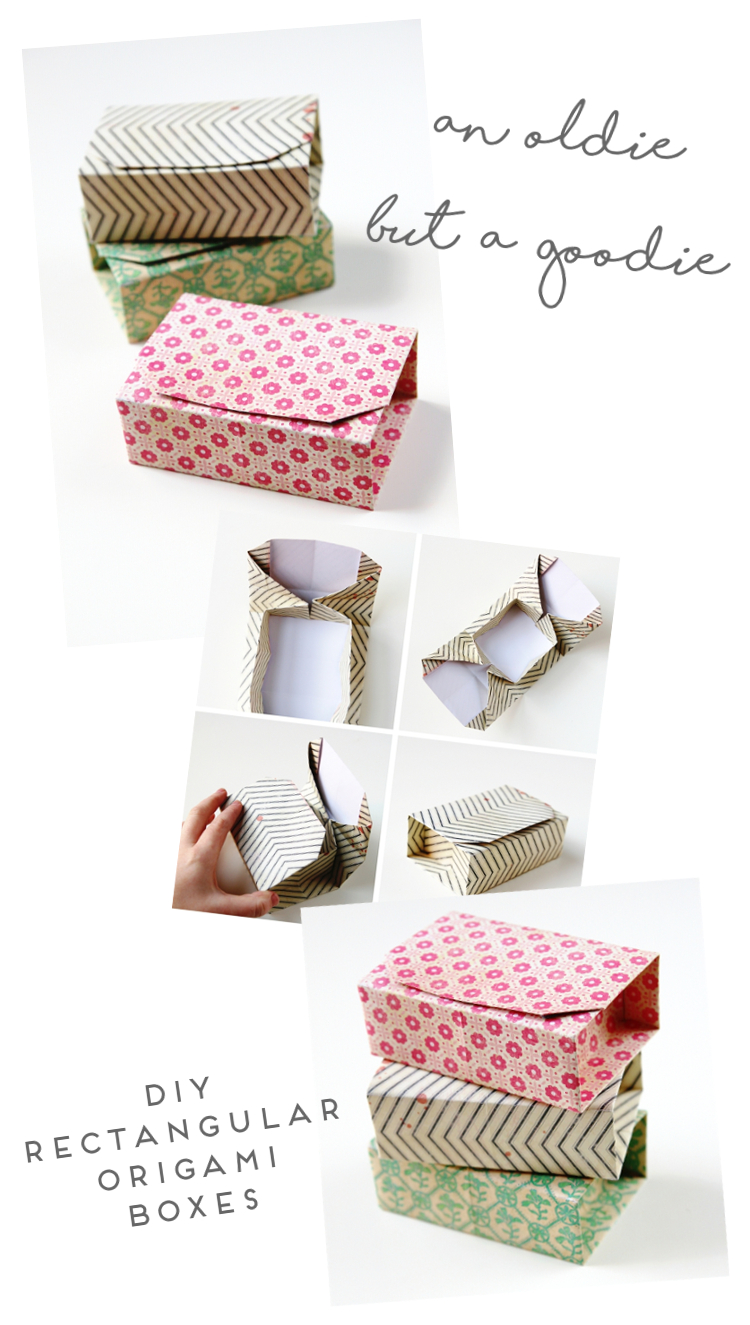 AN OLDIE BUT A GOODIE - DIY RECTANGULAR ORIGAMI BOXES.