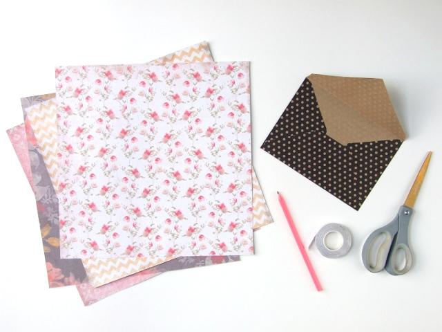 Sweet And Simple Diy Scrapbook Paper Envelopes Gathering Beauty