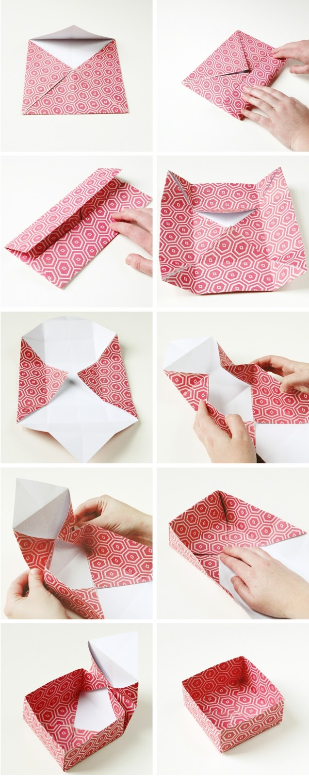 Diy origami gift boxes gathering beauty you now need to fold each corner into the center of your paper square jeuxipadfo Image collections