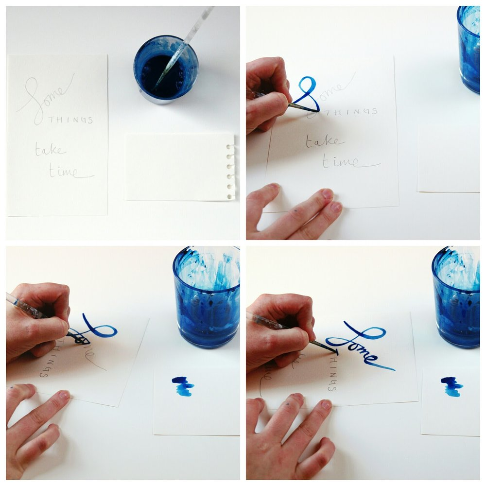 Diy Watercolour Lettering