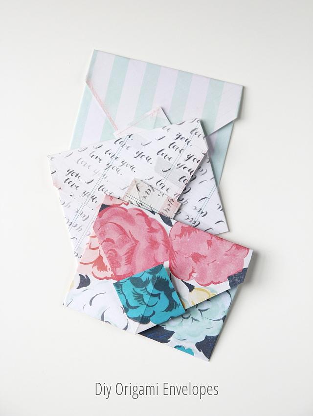 Diy Origami Envelopes Gathering Beauty