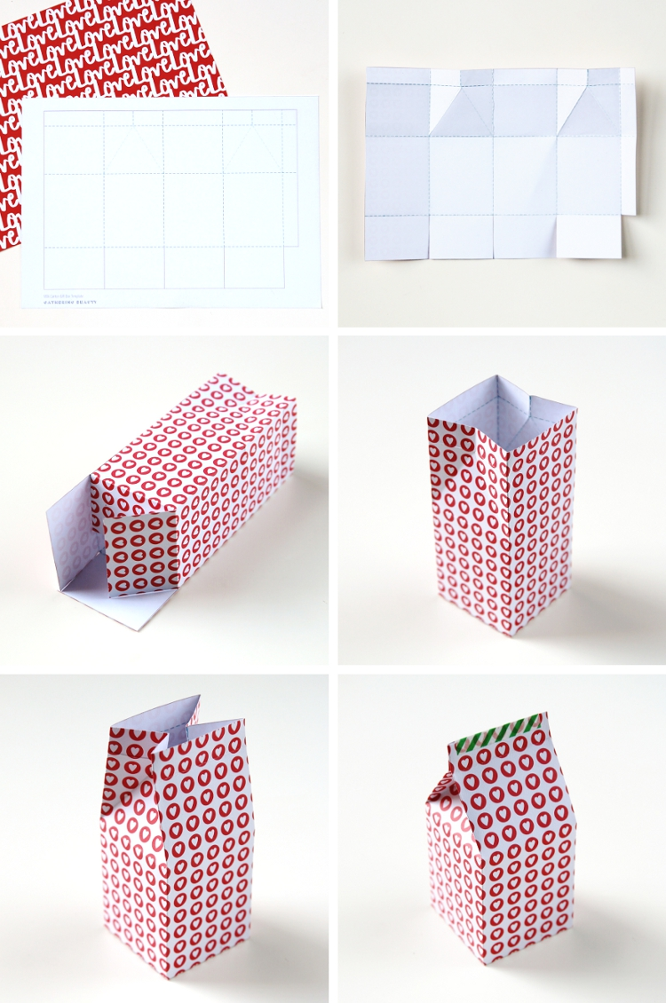 How To Make Your Own Diy Printable Milk Carton Gift Boxes With Free Template