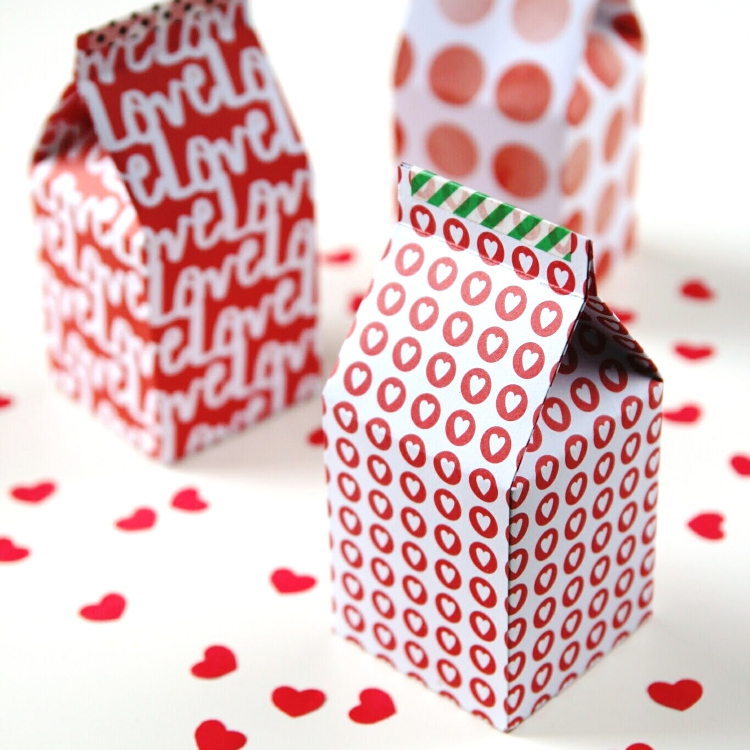 photograph regarding Printable Gift Box identified as Do-it-yourself PRINTABLE MILK CARTON Present Bins. Collecting Splendor