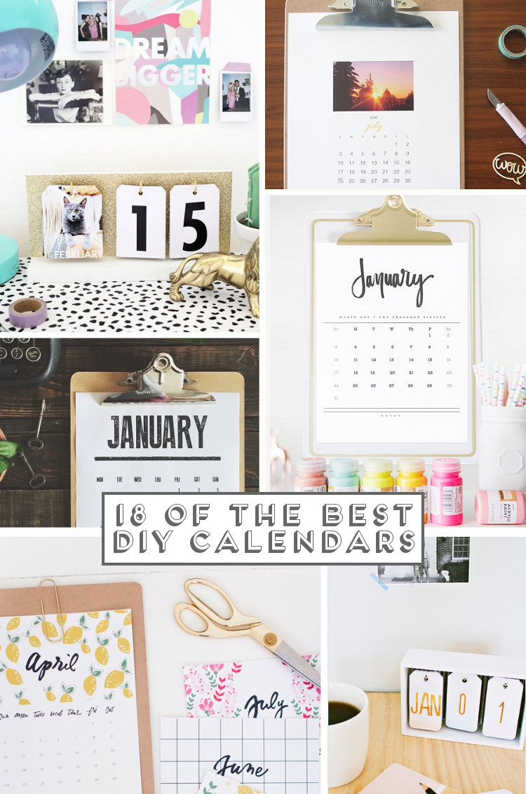 18 Of The Best Diy And Printable Calendars Gathering Beauty