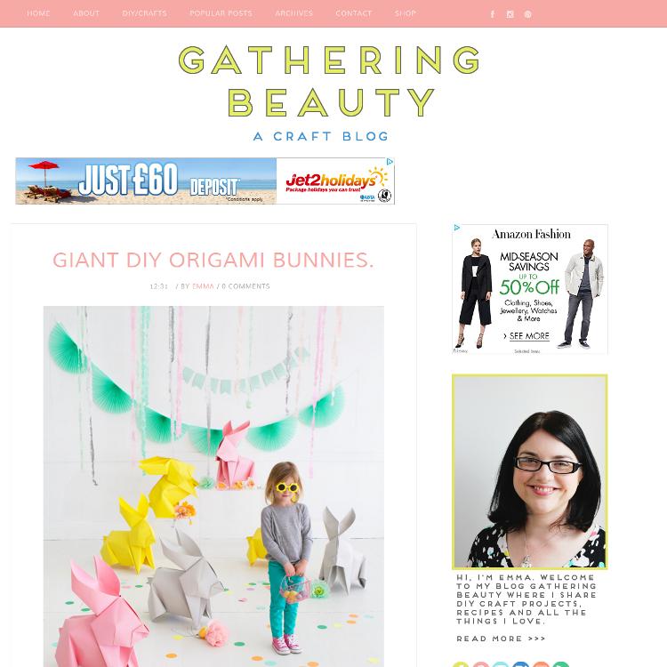 Gathering Beauty blog makeover