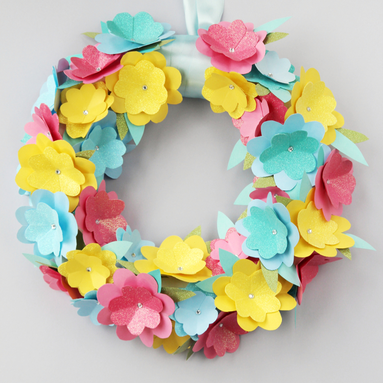 Diy Spring Paper Flower Wreath Gathering Beauty