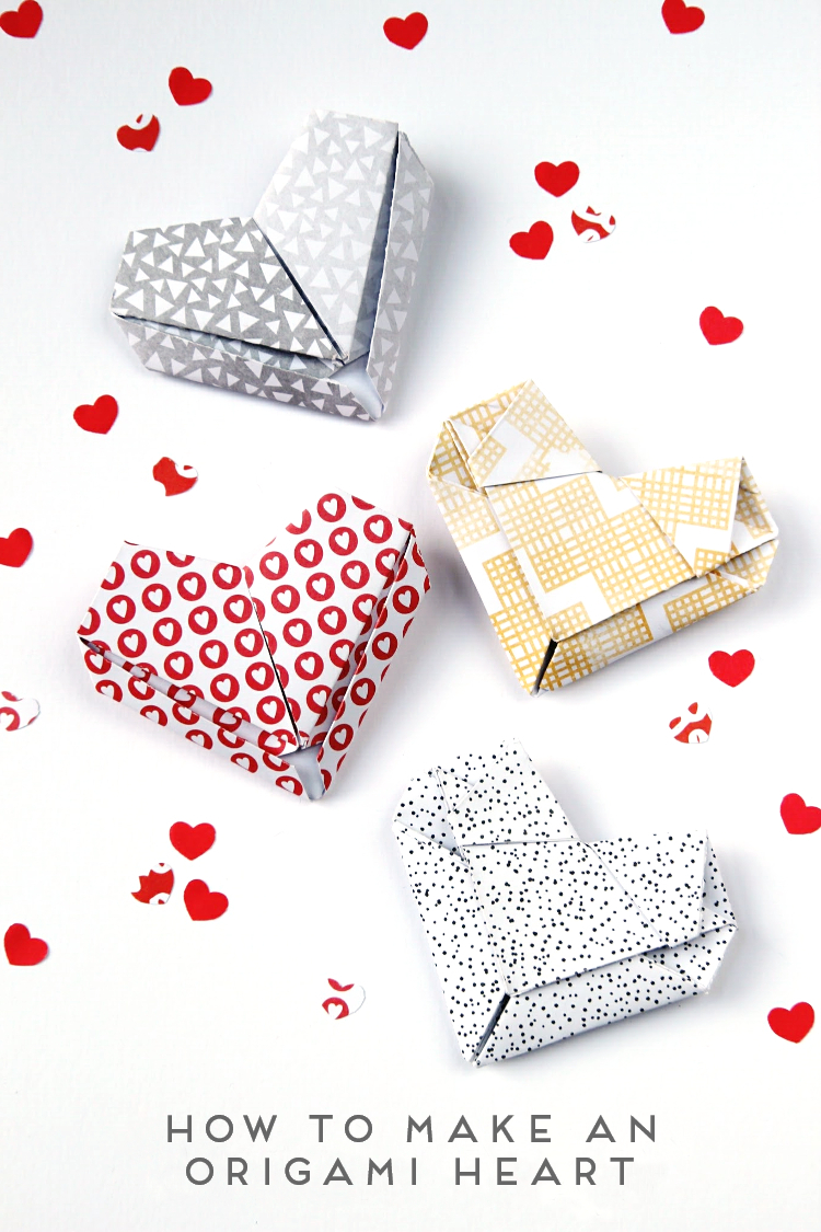 Origami Heart Instructions | Free Printable Papercraft Templates | 1125x750
