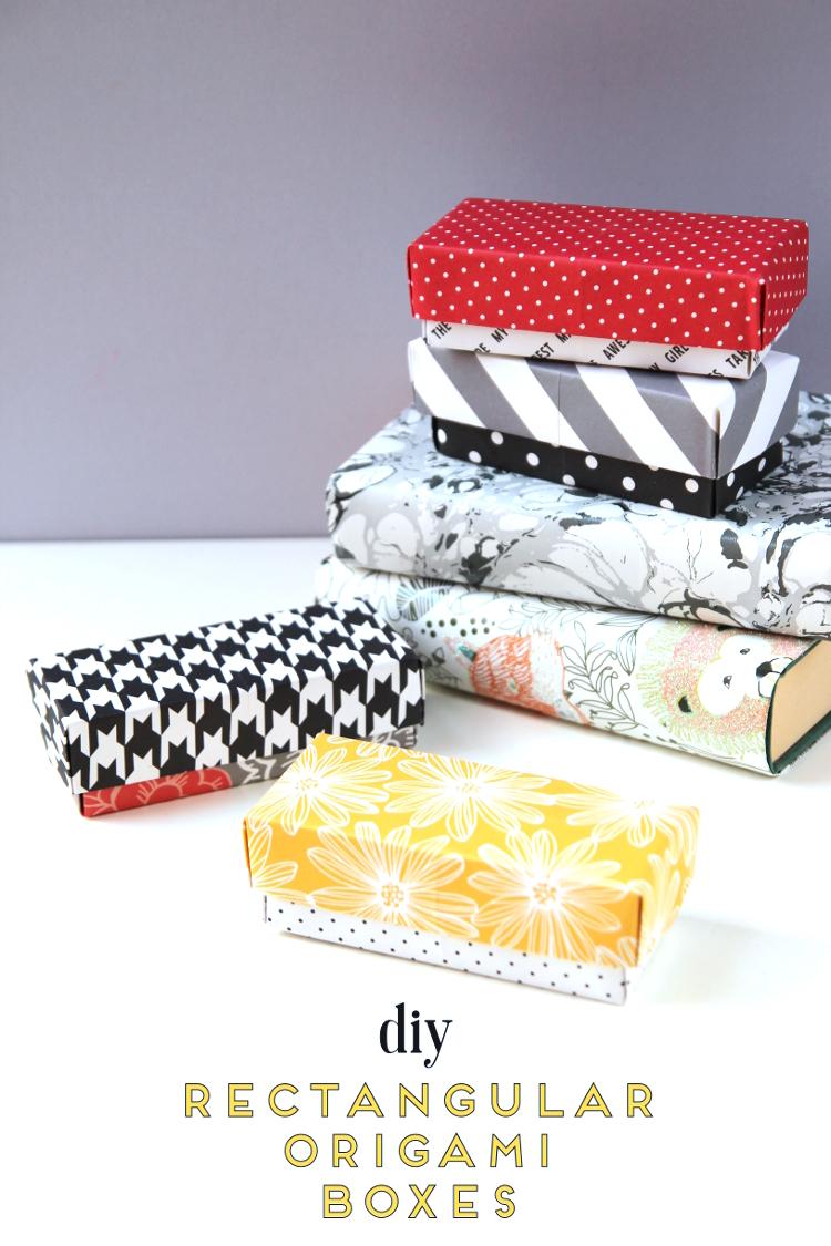 Diy Rectangular Origami Gift Boxes Gathering Beauty