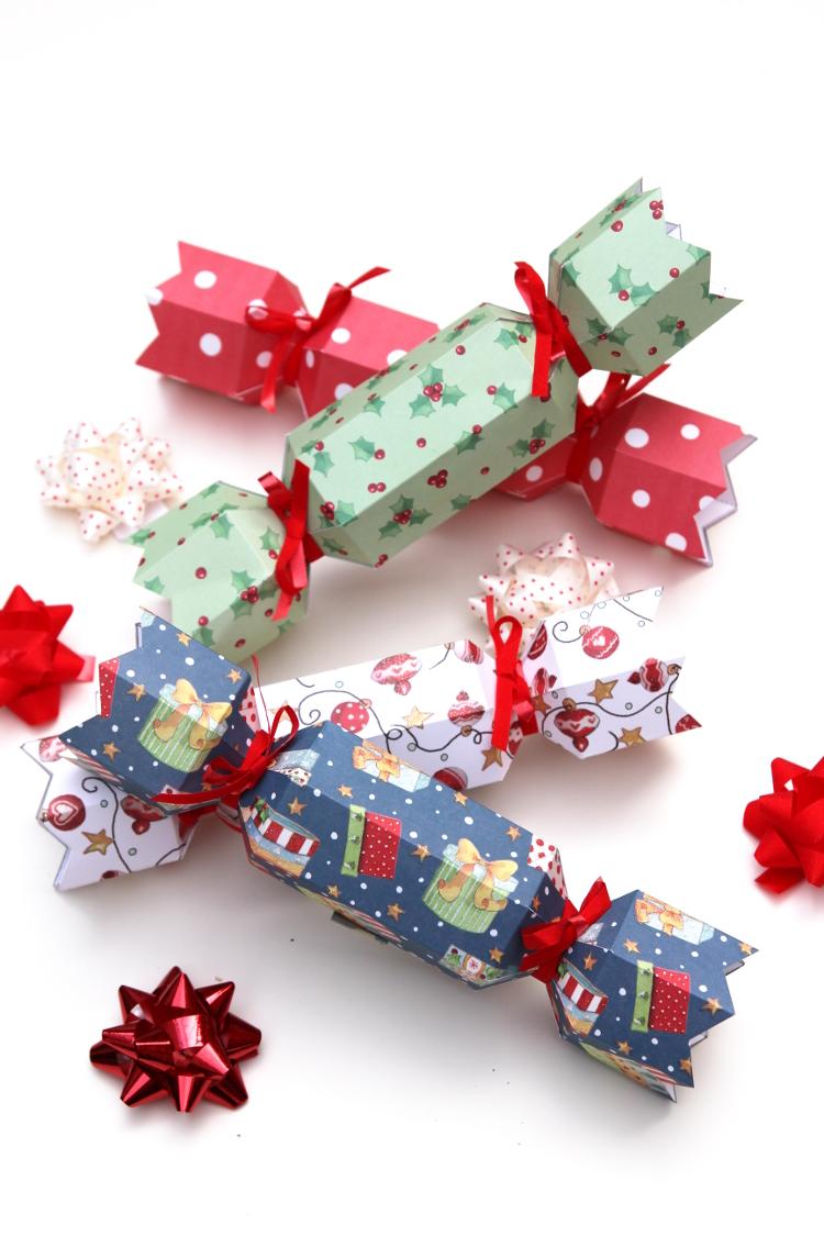 diy christmas crackers with free printable template - Diy Christmas Crackers